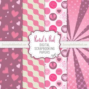 Partial to Pink Scrapbook Papers