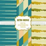 Funky Retro Color Scrapbook Papers