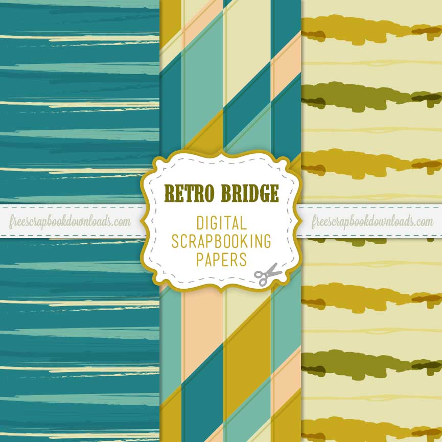 Funky Retro Bridge Scrapbooking Paper Pack thumbnail