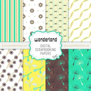 Wonderland Nature Scrapbook Papers