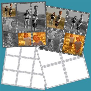 Set of Two Square Scrapbook Page Templates