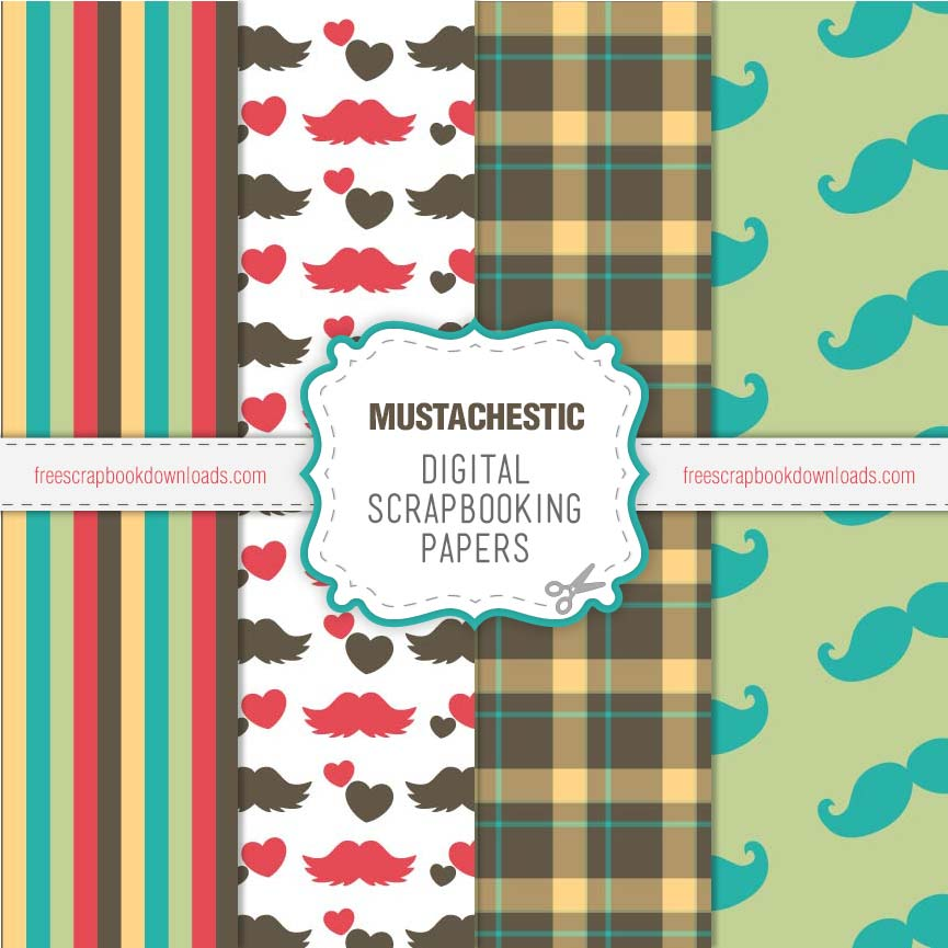 Mustachestic Moustache Scrapbooking Pages thumbnail