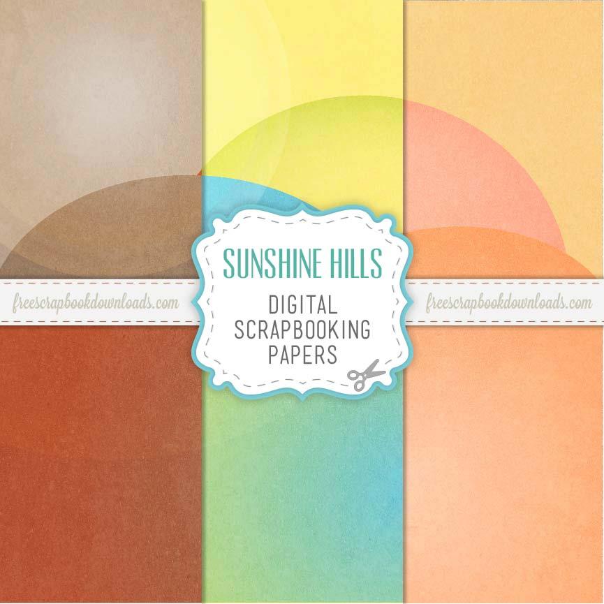 Sunshine Hills Contemporary Scrapbook Paper thumbnail