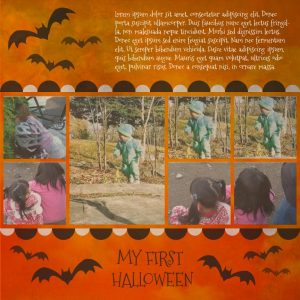 Free Baby's First Halloween Scrapbook Layout