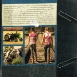 Vintage Book Cover Scrapbook Layout