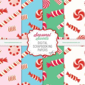 Seasonal Sweets Holiday Scrapbook Papers