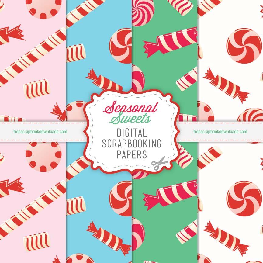 Seasonal Sweets Digital Scrap Papers thumbnail