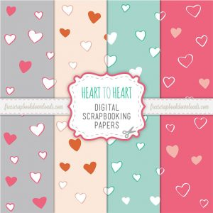 Heart to Heart Scrapbook Paper Set