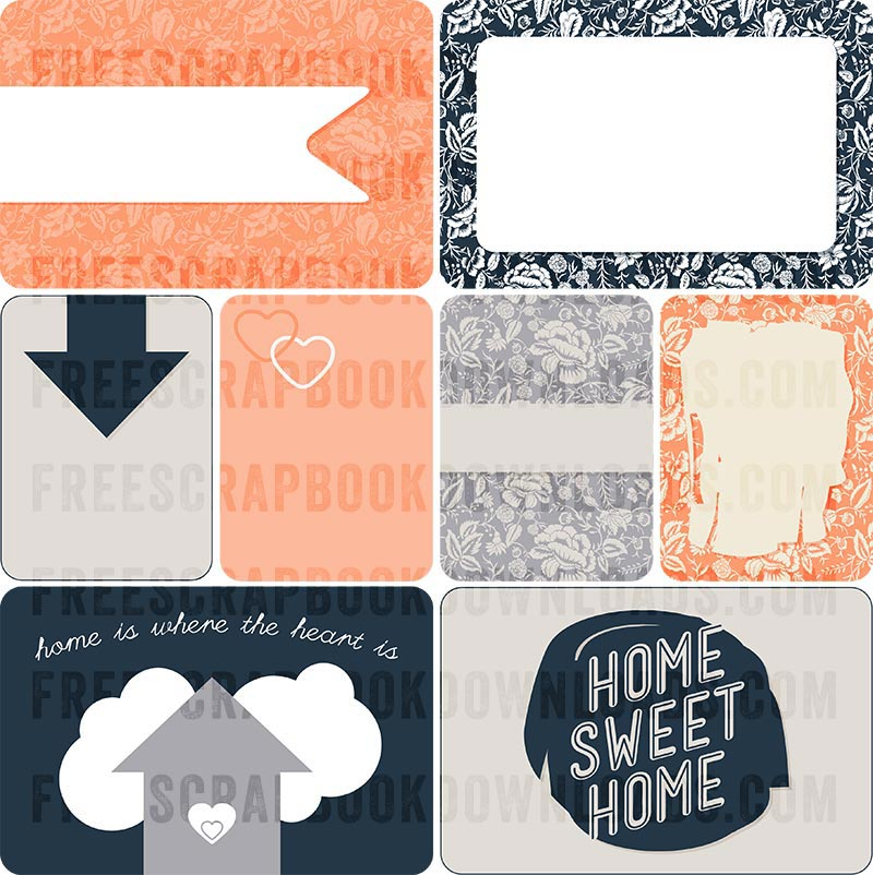 Home Sweet Home Journaling Cards for Scrapbooking thumbnail