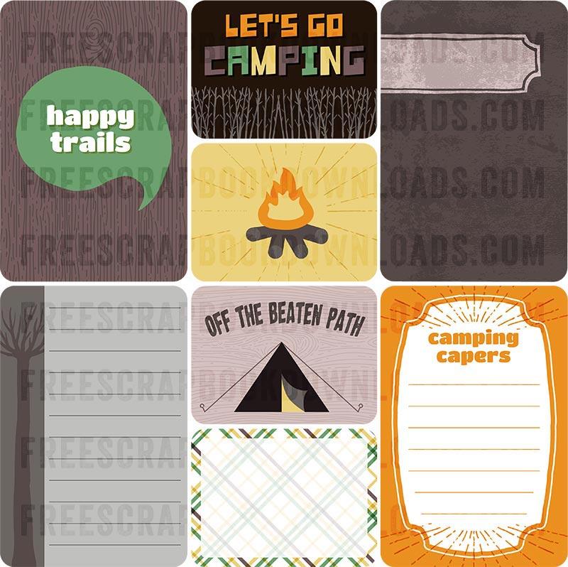 digital project life camping scrapbook kit