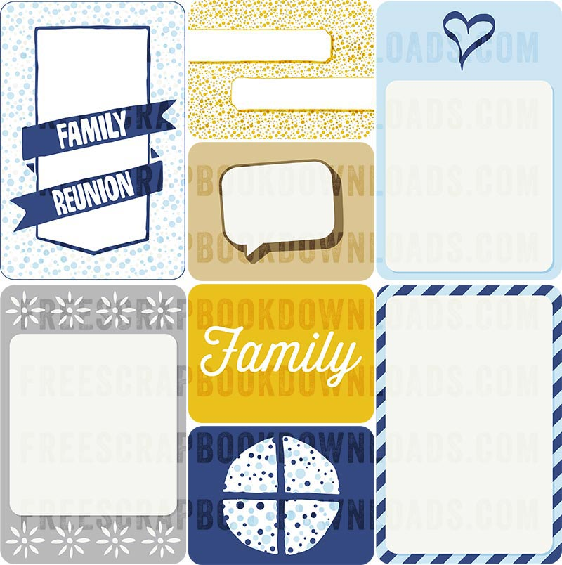 Family Reunion Journal Cards for Scrapbooking thumbnail