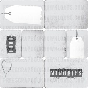 Grunge Gray Journaling Cards For Scrapbooking