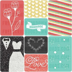 Wedded Bliss Free Wedding Journal Cards