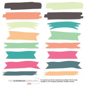 Haphazard Washi Tape Digital Download
