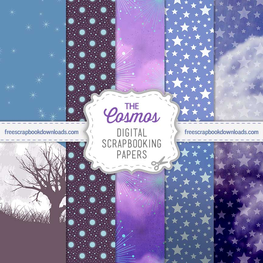 The Cosmos Sky Scrapbooking Paper Set thumbnail