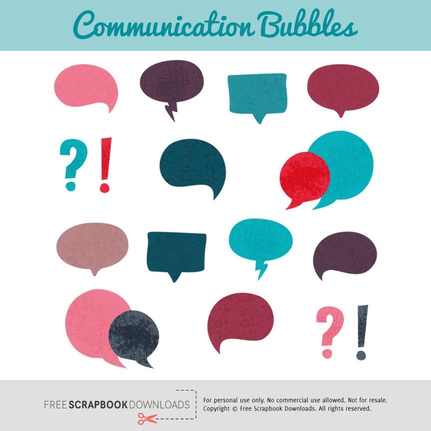 Communication Word Bubbles Scrapbook Elements thumbnail