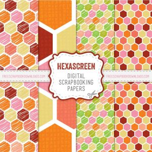 Red and Orange Scrapbook Papers