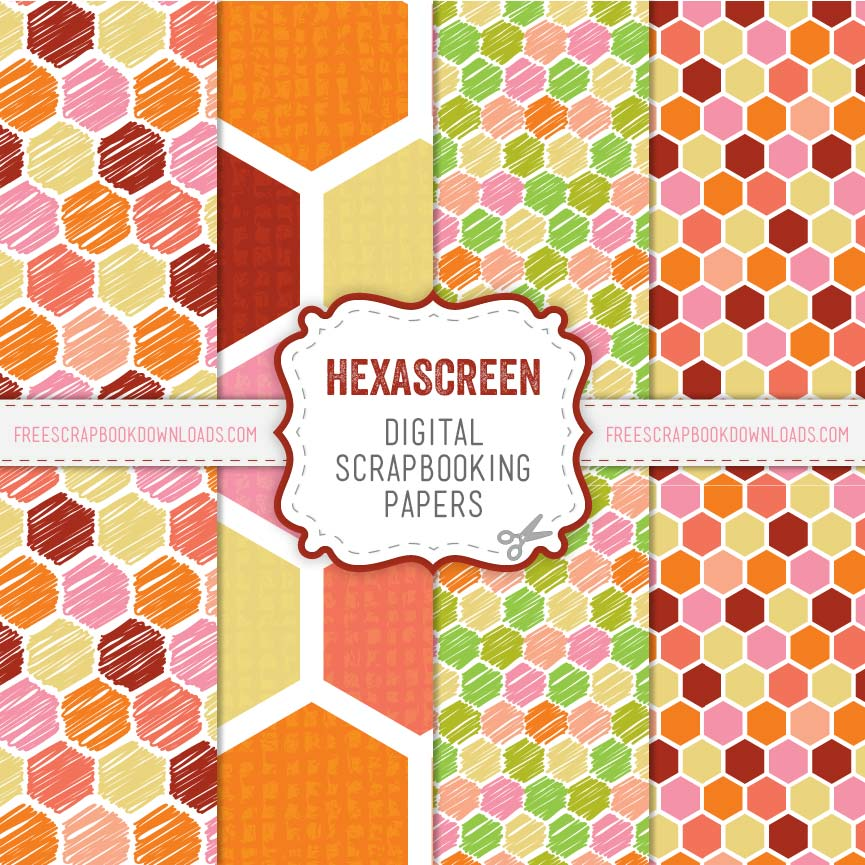 Hexascreen Hexagonal Scrapbook Papers thumbnail