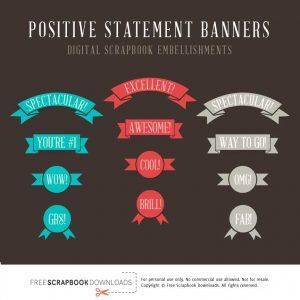 Reward Statement Scrapbook Labels and Banners