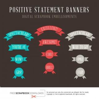 Reward Statement Scrapbook Labels