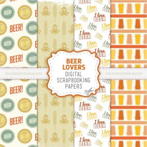 Booze-Loving Beer Scrapbook Papers