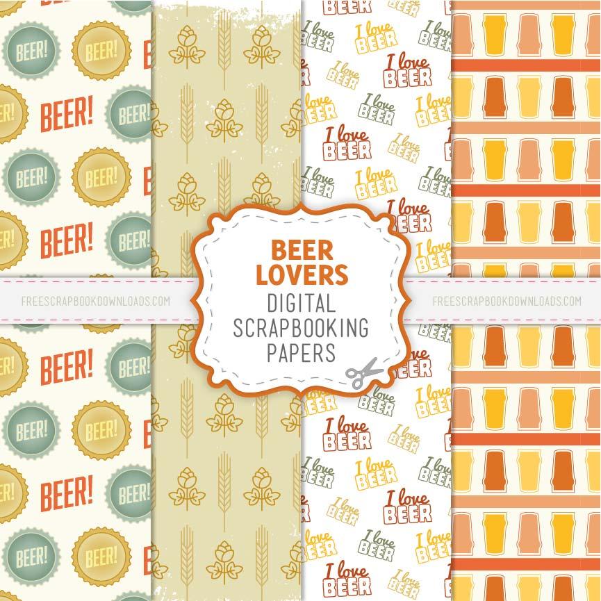 Beer Lovers Scrapbook Papers thumbnail