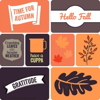 Autumn Project Life Cards