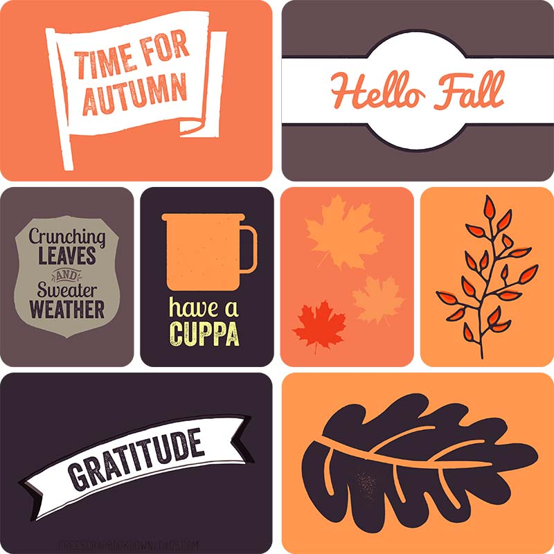 Autumn Flags Project Life Cards thumbnail
