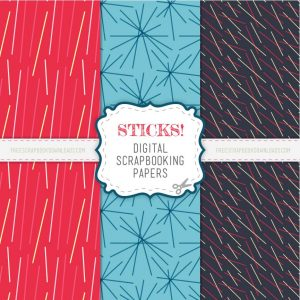 Red, Blue and black Scrapbooking papers