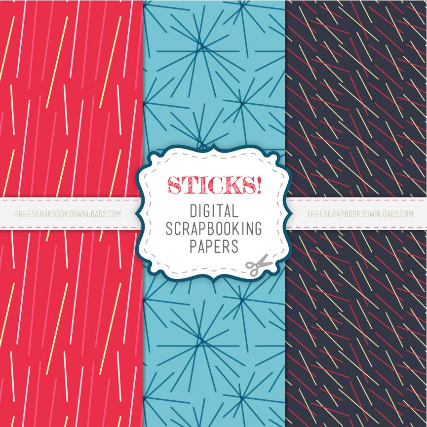 Sticks! Modern Patterned Scrapbook Papers thumbnail