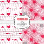 Doctored Hearts Scrapbook Papers