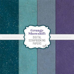 Showshift Weathered Grunge Scrapbook Papers
