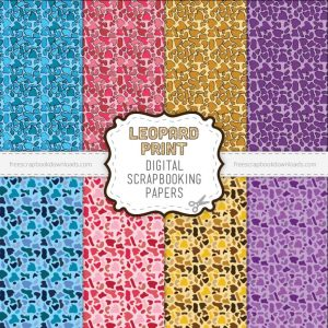 Leopard Print Scrapbook Papers
