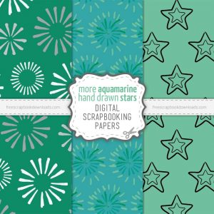 More Aquamarine Digital Papers