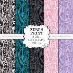 Zebra Print Scrapbook Papers