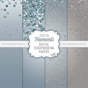 Digital Diamonds Scrapbook Papers