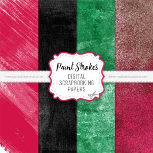 Downloadable Painted Scrapbook Papers Set