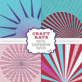Crafty Digital Scrapbook Papers