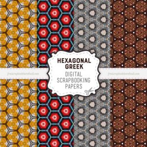 Greek Hexagonal Scrapbook Papers